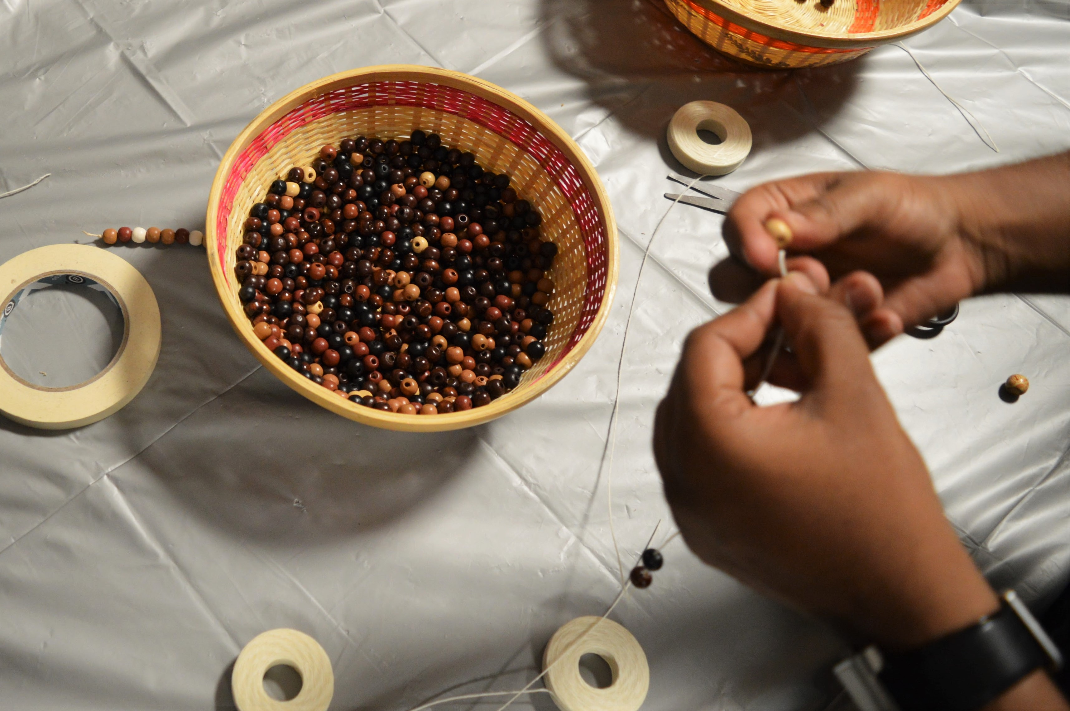 Coffee Hour African Beads webpage